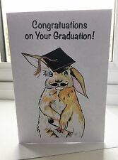Congratulations on your graduation! Greeting Card (Customised text available)