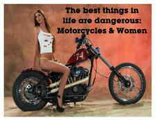 Custom Made T Shirt Best Things In Life Are Dangerous Motorcycles Women Funny