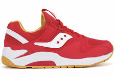 Saucony Grid 9000 Mens Red White Athletic Casual Running Shoes