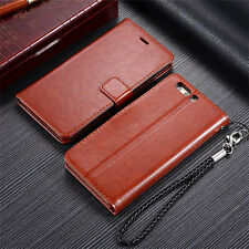 Unique Magnetic Flip Wallet Leather Case Cover Card Pouch For Huawei Series