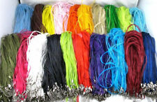 20/50pcs Variety of Colors Ribbon Voile Necklace Cord Fit Necklace Chains 46cm
