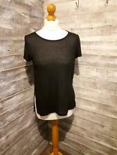 Atmosphere Black Striped Top Size 12