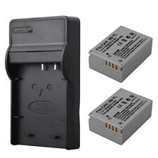 2x 1400mah NB-7L Li-ion Battery + Charger For Canon PowerShot G10 G11 G12 SX30IS