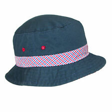 New Scala Kids' Nautical Cotton Bucket Hat with Contrast Hatband and Underbrim