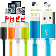 Lightning USB Cable Flat 2.1A Fast Charging Data Cable for iPhone 7 6 5 SE iPad