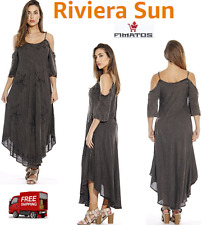 Women's Cold Shoulder Casual Sundress / Swimsuit Beach Cover Up,By Riviera Sun