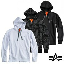 Alpha Industries Zip Hoody Hoodie X-Fit Hood Sweater S M L XL XXL 3XL