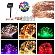 10/15/20m LED Solar Fairy String Light Outdoor Wedding Christmas Party Lamp LMU