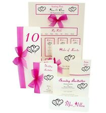 Handmade personalised Wedding Stationery (Invitations, RSVP, Guest book etc)