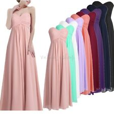 Women Long Chiffon Evening Party Dress Formal Prom Ball Gown Bridesmaid Dress