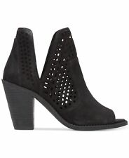 Jessica Simpson Cherrell Cutout Peep-Toe Cut Out Stacked Heel Ankle Booties