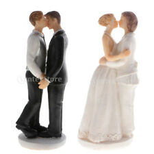 Gay Lesbian Resin Figurines Partner Wedding Cake Topper Gay Kiss Marriage Favor