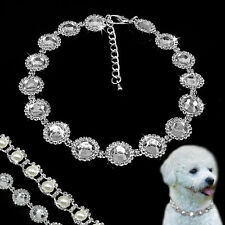Rhinestone Pearl Dog Collars Diamond Pet Cat Dog Party Necklace For Chihuahua