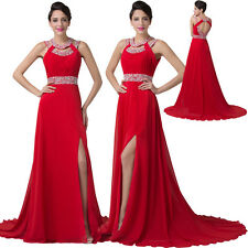 BEAD Long Chiffon Bridesmaid Dress Cocktail Ball Evening Party Formal Prom Gown.