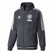 adidas Manchester United Training Presentation Jacket 2017/18- Dark Grey - Mens