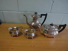 VINERS OF SHEFFIELD ENGLAND VINTAGE SILVER PLATE 4 PIECES COFFEE & TEA SET