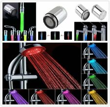 LED Water Faucet Stream Light Changing Glow Shower Stream Tap Head + Faucet MU