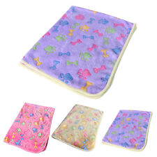 Dogs Cats Pet Blanket Warm Dog Bed Mat Cover Fleece Towel Paw Print Beds Cushion