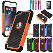 For Apple iPod Touch 5th 6th Gen Hybrid TUFF IMPACT Phone Case Hard Rugged Cover