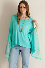 NWT~BOUTIQUE~ENTRO~LACE~PONCHO~TOP/TUNIC~SMALL, MEDIUM, LARGE~SHABBY CLOSET~SALE