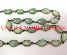 5 feet natural Amazonie 10-15mm uneven oval faceted link chain