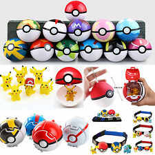 Pokemon Pretend Cosplay Figure Toy Kid Clip-n-Carry Poke Ball Belt Pokeball Doll
