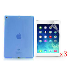 New TPU Soft Jelly Case Cover+3x LCD Film For 2017 Apple iPad 9.7 A1822/A1823