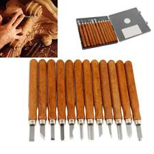 12pcs DIY Carving Tools Hand Wood Woodcut Craft Cutter Chisels Set for Sculpture