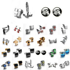 Lot Vintage Stainless Steel Mens Wedding Party Gift Shirt Cuff Links Cufflinks