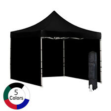 Vispronet 10'x10' Ez Pop-Up Canopy Tent Commercial with Sides - Alum. Hex Frame