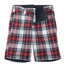 TAILOR VINTAGE REVERSIBLE PLAID / NAVY SHORTS - NWT