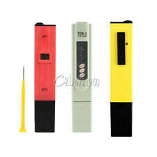 Digital PH Meter+TDS Tester Aquarium Pool Hydroponic Water Monitor 0-9999 PPM US