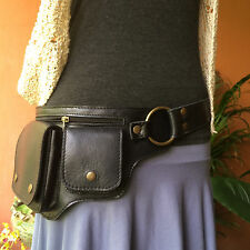 Leather Purse Belt Bag Utility Festival Fanny Pack Pouch Hip Waist - The HIPSTER