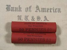 ONE UNSEARCHED - Lincoln Wheat Penny Roll 50 Pennies - 1909 1958 P D S (387)