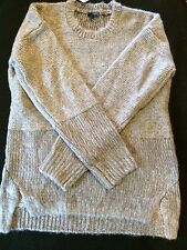 The Limited Women's Gray Crew-neck Sweater, Size Medium TALL
