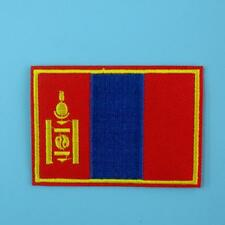 Mongolia Flag Iron on Sew Patch Applique Badge Embroidered Biker Applique Cute