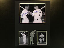 Hall of Famers Joe DiMaggio and Mickey Mantle Autographed 8x10 & 3x5 Photos COA