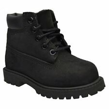 TIMBERLAND 6 INCH PREM TODDLERS - 12807 / YOUTHS 12707 BLACK KIDS  BOOTS