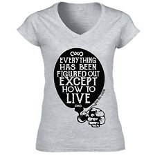 JEAN PAUL SARTRE  EVERYTHING QUOTE - NEW COTTON GREY LADY TSHIRT