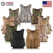 Tactical Vest Military Assault Combat CS Game Airsoft Molle Pistol Holster TB