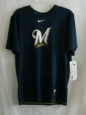 Milwaukee Brewers Nike DRI-FIT Blue Men's Medium T Shirt NWT