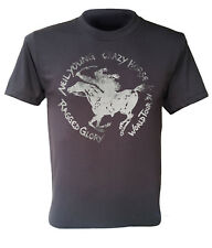 Neil Young t-shirt Crazy Horse Ragged Glory World Tour 91 rock band dark grey