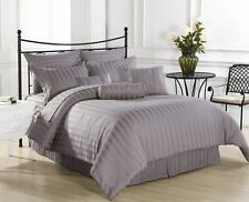 1000TC EGYPTIAN COTTON SILVER STRIPE BEDDING ITEMS EXTRA DEEP POCKET FITTED