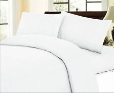 1000TC EGYPTIAN COTTON WHITE SOLID BEDDING ITEMS EXTRA DEEP POCKET FITTED