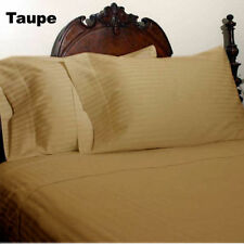 1000TC EGYPTIAN COTTON TAUPE STRIPE BEDDING ITEMS EXTRA DEEP POCKET FITTED