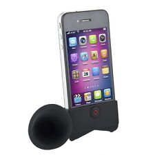 Cute Portable Silicone Horn Stand Amplifier Speaker For iPhone 4 4S 4G NEW LN