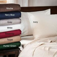 1000TC Egyptian Cotton 1Pc Fitted Sheet& 2Pc Pillow Cases All Size&Striped Color
