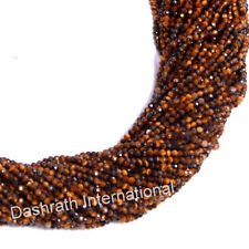 """Natural Tiger Eye Gemstone Beads Rondelle Faceted Cut 13"""" Strand Top Quality"""