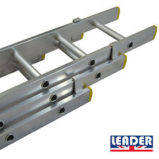 LEADER PRO Triple & Double Trade Aluminium Extension Ladders UK Manufactured