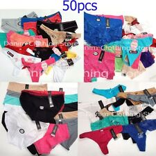 50pc Women's Thongs G-String Panties Underwear Mixed Colors Sizes Wholesale Lot